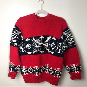 United Colors of Benetton VTG Snowflake Sweater